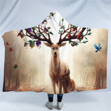 Seasons Change by JoJoesArt Hooded Blanket