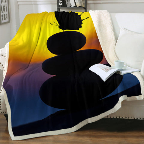 Silhouette Butterfly Throw Rug