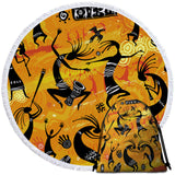 African Dance Round Towel