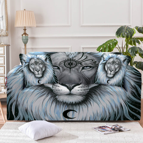 Lion Galaxy By Pixie Cold Art Sofa Cover