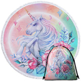 Pastel Unicorn Round Towel