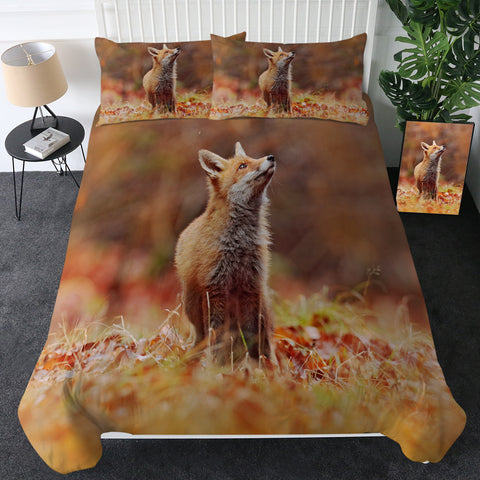 Fox In Autumn Leaves Bedding Set