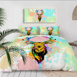 Watercolour Splash Elk Bedding Set