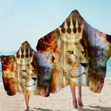 Galaxy King Lion Hooded Towel