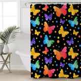 Neon Butterflies Shower Curtain