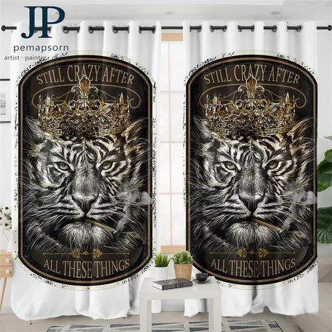 Tiger King By JP.Pemapsorn Window Curtain