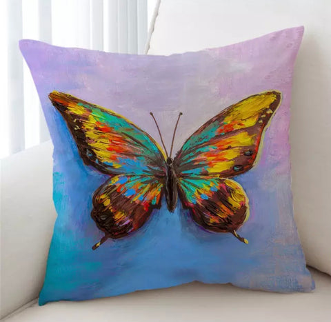 Artist Acrylic Butterfly Cushion Cover