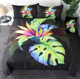 Tropical Monstera Bedding Set