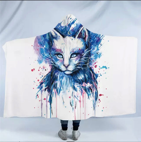 Space By Pixie Cold Art Hooded Blanket