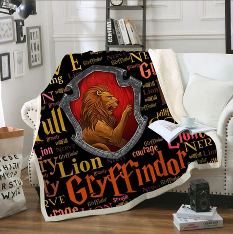 Gryffindor Traits Throw Rug