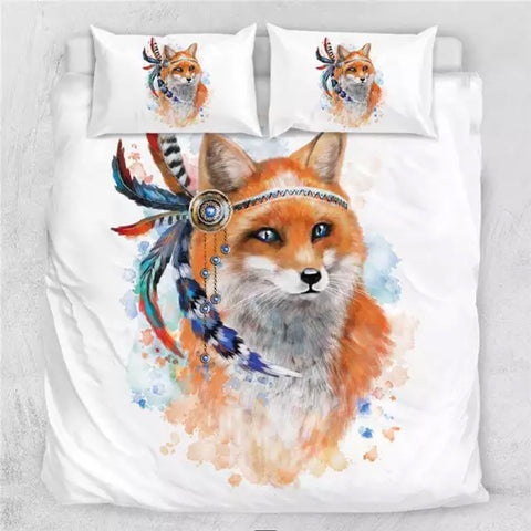 Indian Fox Bedding Set