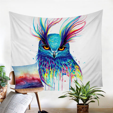 Into The Blue By Pixie Cold Art Wall Tapestry