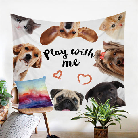 Play With Me Wall Tapestry