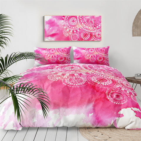 Bright Pink Mandala Bedding Set