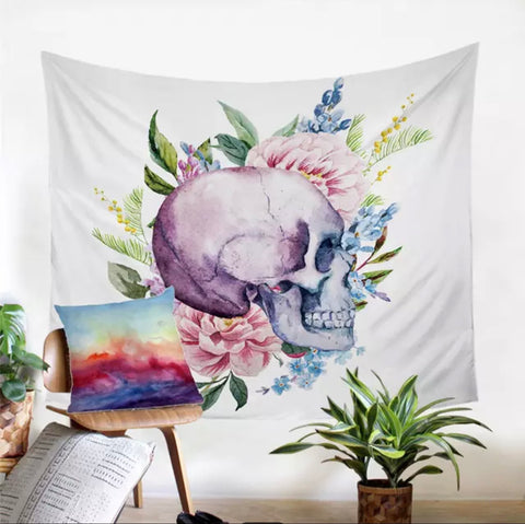 Purple Skull Wall Tapestry