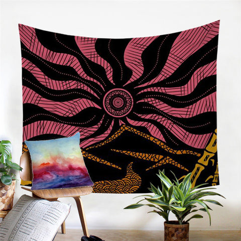 Japanese Mandala by Lionhearts Wall Tapestry