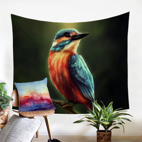 Kingfisher By KhaliaArt Wall Tapestry