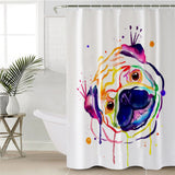 Rainbow Pug Shower Curtain