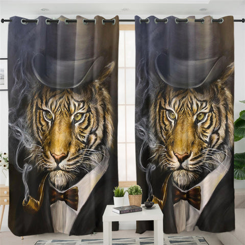 Tiger By JP.Pemapsorn Window Curtain