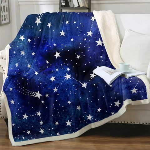 Stars, Stars & More Stars Throw Rug