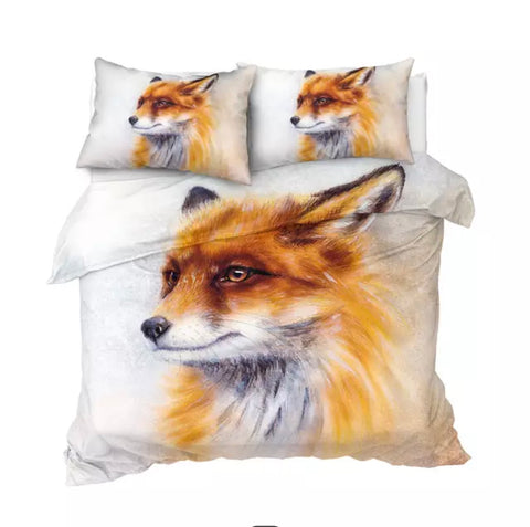 Fox Drawing Bedding Set