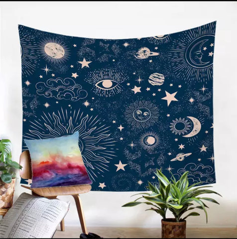 The Galaxy (Blue) Wall Tapestry