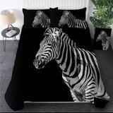 Black & White Zebra Bedding Set