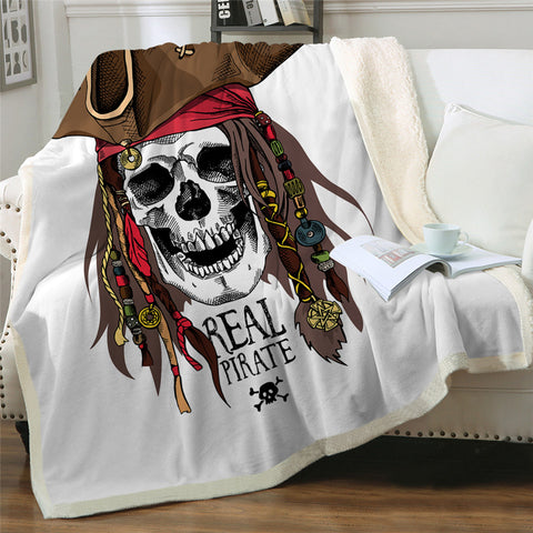 Real Pirate 🏴‍☠️ Skull Throw Rug