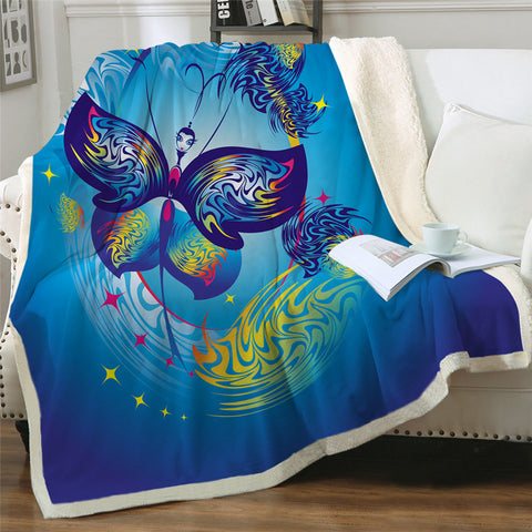 Wind Shifting Butterfly Throw Rug