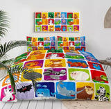 Cartoon Baby Animals Bedding Set