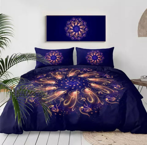 Purple Swirl Mandala Bedding Set