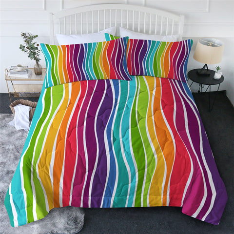 Rainbow Stripes Comforter Set