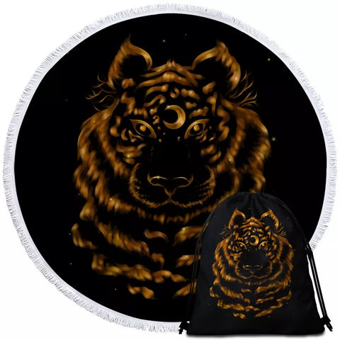 Tiger By Taemin Ankh Round Towel