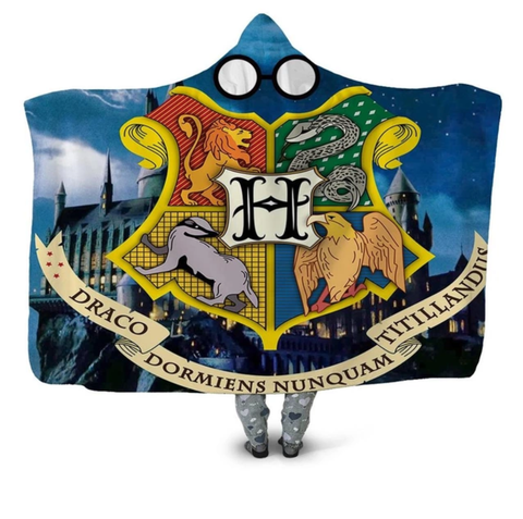 Hogwarts Coat Of Arms Hooded Blanket