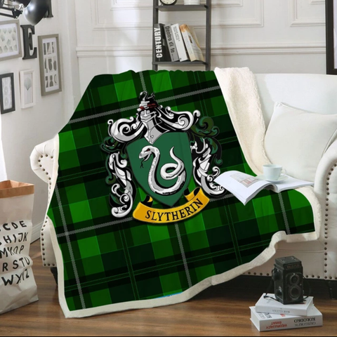 Slytherin Tartan Throw Rug