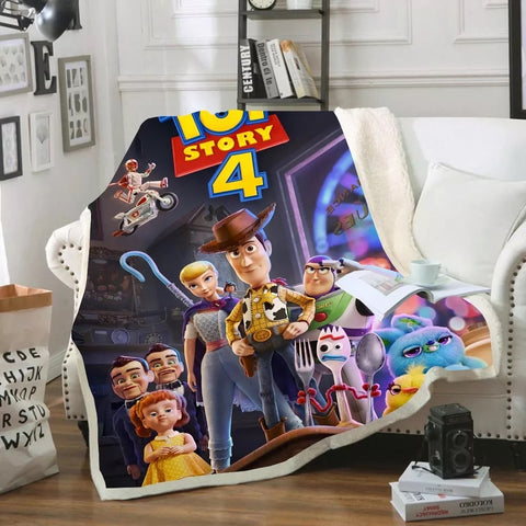 Toy Story Characters Throw Rug