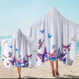 Colourful Butterflies Hooded Towel