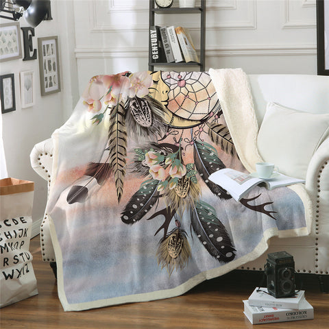 American Indian Moon Dreamcatcher Throw Rug