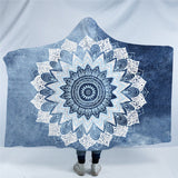 Cobalt Blue Mandala Hooded Blanket