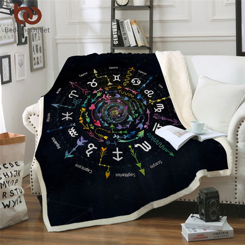 Zodiac Signs Throw Rug