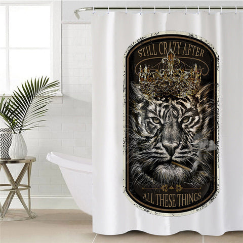Tiger King By JP.Pemapsorn Shower Curtain