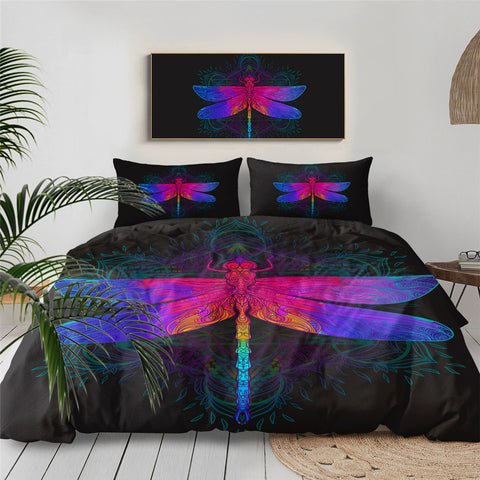 Rainbow Dragonfly Bedding Set