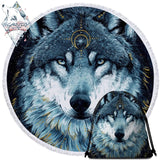 In The Darkness Wolf By Scandy Girl Round Towel