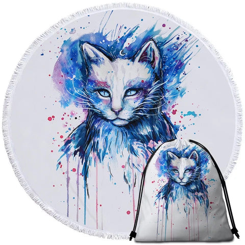 Space By Pixie Cold Art Round Towel