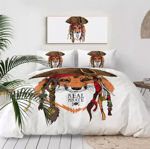 Real Pirate 🏴‍☠️ Fox Bedding Set