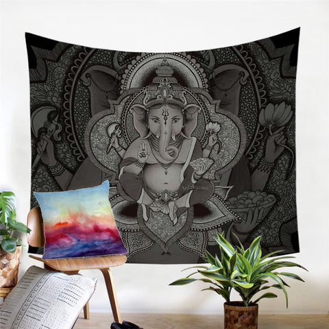 Boho Elephant By Brizbazaar Wall Tapestry