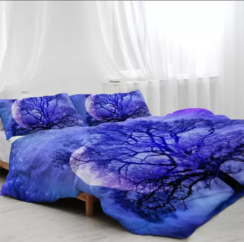 Purple Tree Bedding Set