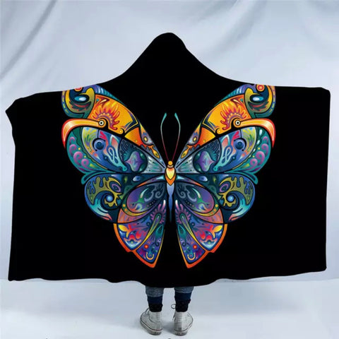 Artistic Butterfly Hooded Blanket