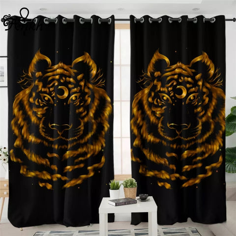 Tiger by Taemin Ankh Window Curtain