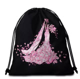Pink Butterfly Bride Round Towel